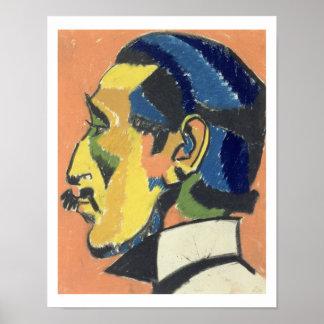 Portrait of Horace Brodsky (1885-1969) (pastel on Poster