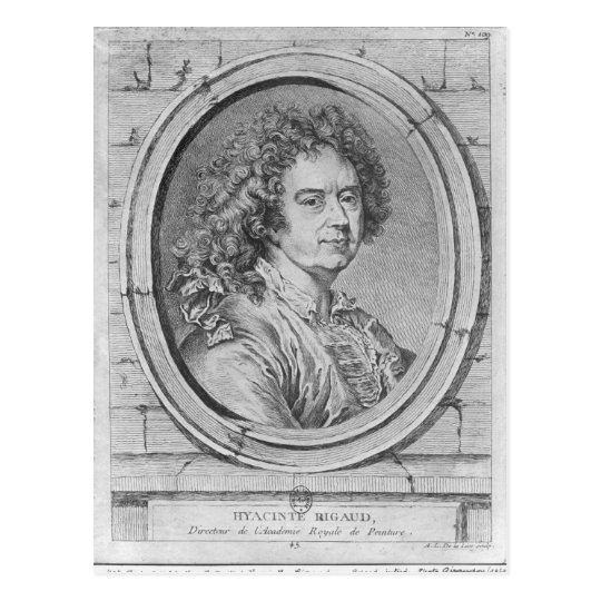 Portrait of Hyacinthe Rigaud, 1752-65 Postcard