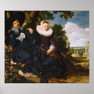 Portrait of Isaac Massa en Beatrix van der Laen Poster