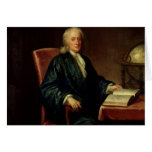 Portrait of Isaac Newton , c.1726 Card