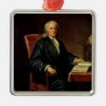 Portrait of Isaac Newton , c.1726 Metal Ornament