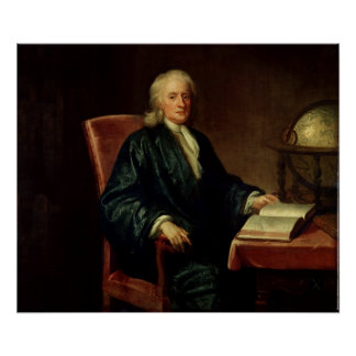 Portrait of Isaac Newton , c.1726 Poster