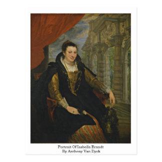 Portrait Of Isabella Brandt By Anthony Van Dyck Postcard