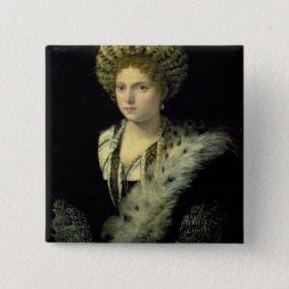 Portrait of Isabella d'Este 2 Inch Square Button