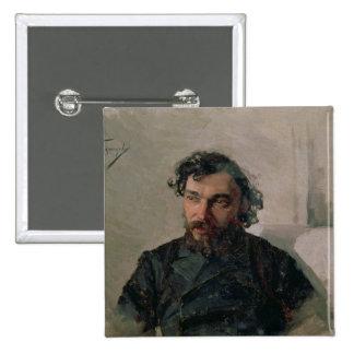 Portrait of Ivan Pochitonov , 1882 2 Inch Square Button
