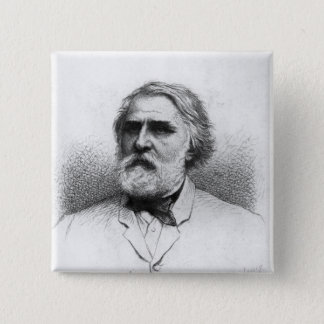 Portrait of Ivan Turgenev 2 Inch Square Button