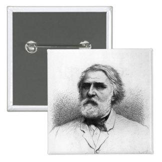 Portrait of Ivan Turgenev 2 Inch Square Button