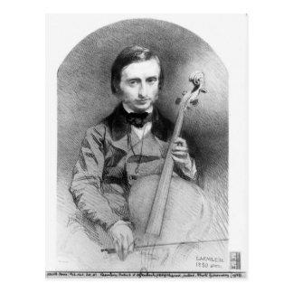 Portrait of Jacques Offenbach  1850 Postcard
