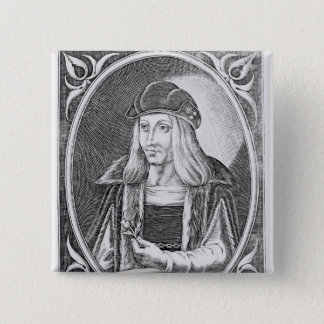 Portrait of James IV of Scotland 2 Inch Square Button