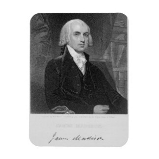 Portrait of James Madison, engraved by William A. Magnet