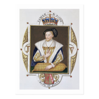 Portrait of James V (1512-42) King of Scotland fro Postcard