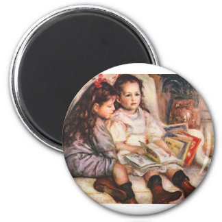 Portrait of Jean and Genevieve Caillel 2 Inch Round Magnet