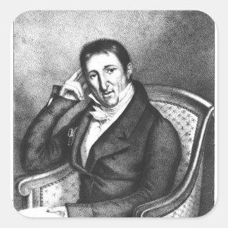 Portrait of Jean Baptiste Count of Villele Stickers