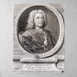Portrait of Jean Bernoulli  engraved by Print