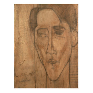 Portrait of Jean Cocteau (1889-1963) 1917 (pencil Postcard