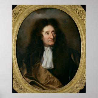 Portrait of Jean de La Fontaine Poster