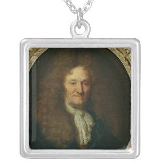 Portrait of Jean de La Fontaine Silver Plated Necklace
