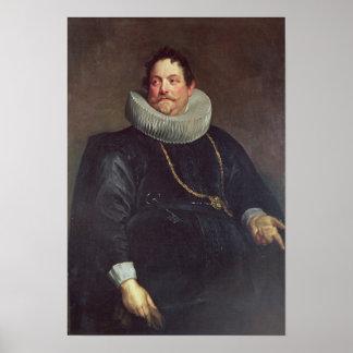 Portrait of Jean de Montfort Poster