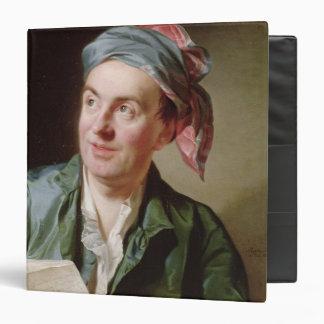 Portrait of Jean-Francois Marmontel  1767 3 Ring Binder