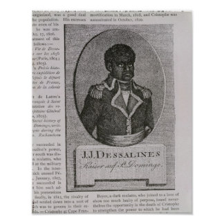 Portrait of Jean-Jacques Dessalines Poster