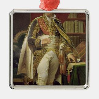 Portrait of Jean-Jacques-Regis de Cambaceres Silver-Colored Square Ornament