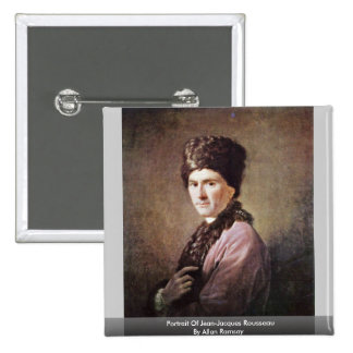 Portrait Of Jean-Jacques Rousseau By Allan Ramsay 2 Inch Square Button