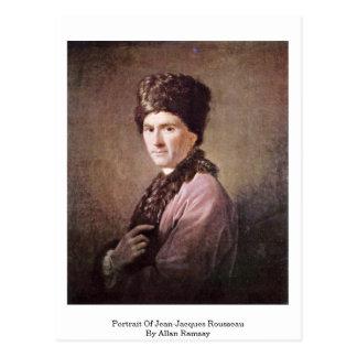 Portrait Of Jean-Jacques Rousseau By Allan Ramsay Postcard