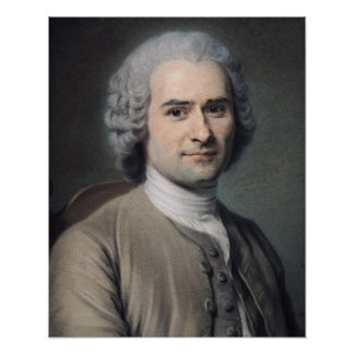 Portrait of Jean Jacques Rousseau Poster