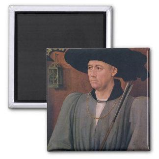 Portrait of Jean Lefevre de Saint-Remy Square Magnet