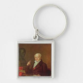 Portrait of Jean Nicolas Corvisart des Marets Silver-Colored Square Keychain