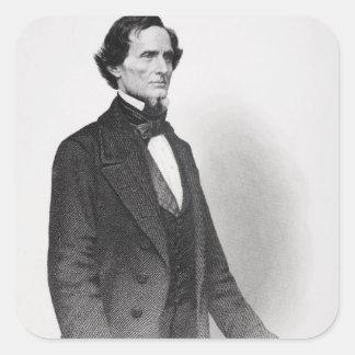 Portrait of Jefferson Davis Square Sticker