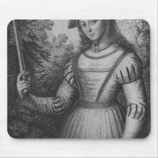 Portrait of Joan of Arc Mouse Pad