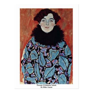 Portrait Of Johanna Staude By Klimt Gustav Postcard