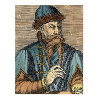 Portrait of Johannes Gutenberg 2 Postcard