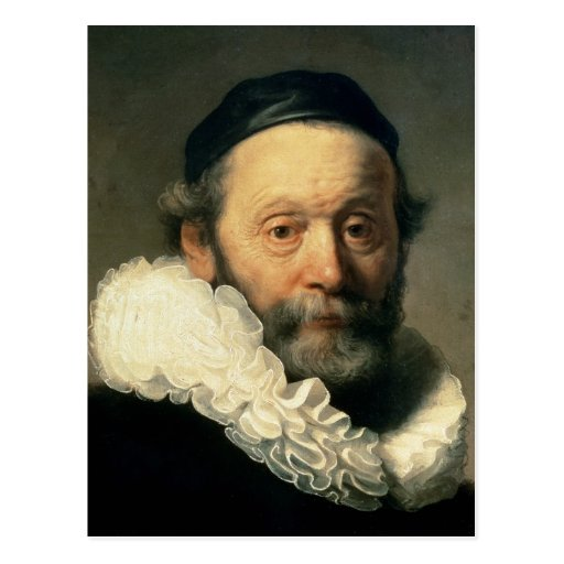 Portrait of Johannes Uyttenbogaert Postcard