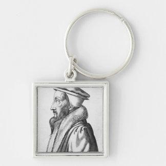 Portrait of John Calvin  aged 53, 1564 Keychain