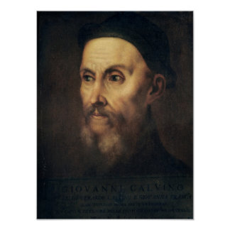 Portrait of John Calvin Poster