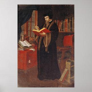 Portrait of John Calvin Poster