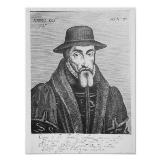 Portrait of John Foxe  English martyrologist Poster