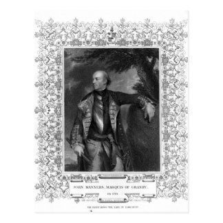 Portrait of John Manners, Marquis of Granby Postcard