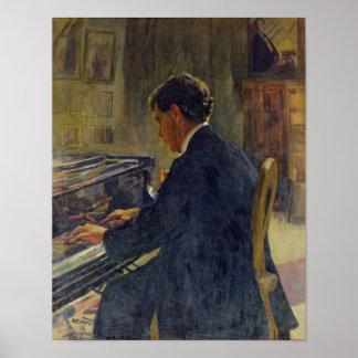 Portrait of Joseph Hofman, 1912 Poster