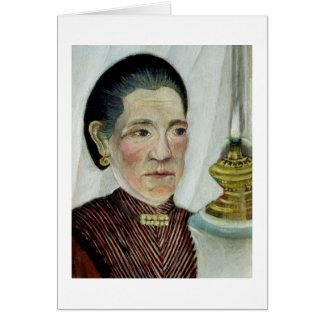 Portrait of Josephine, the artist's second wife, c Card