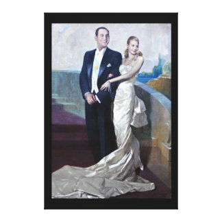 Portrait of Juan Domingo Perón and Eva Duarte Canvas Print