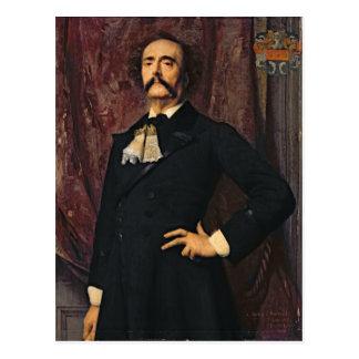 Portrait of Jules Barbey d'Aurevilly  1881 Postcard