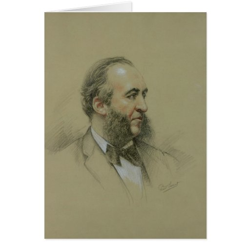 Portrait of Jules Ferry Greeting Cards
