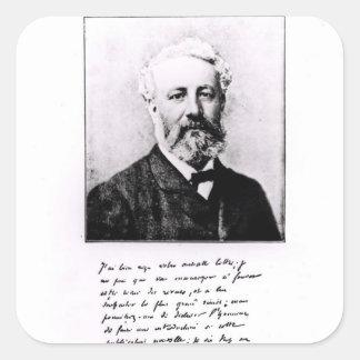 Portrait of Jules Verne Square Sticker