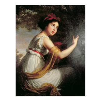 Portrait of Julie Le Brun, c.1797 Postcard