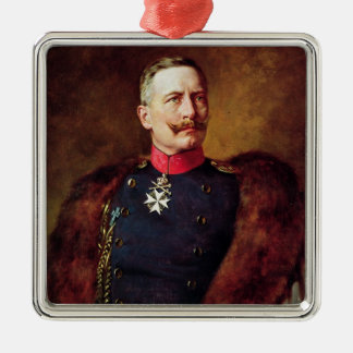 Portrait of Kaiser Wilhelm II Metal Ornament