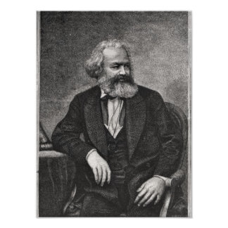 Portrait of Karl Marx  1857 Poster