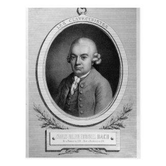 Portrait of Karl Philipp Emmanuel Bach Postcard